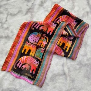 🖤 NEW🖤   rainbow silk laurel burch cat scarf